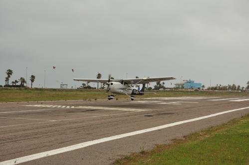 Detalle de toma de precisión de la Cessna 172 que representaba al CAV en la Vuelta Aérea del Mediterráneo