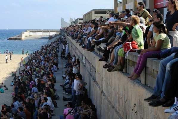 gente en el festival barcelona