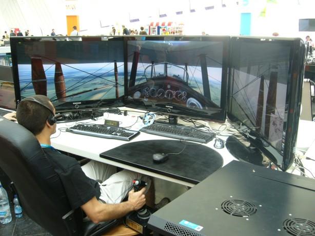 Simulador de vuelo amateur