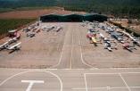 aviones Club Aéreo Valencia en la plataforma del aeródromo de Requena